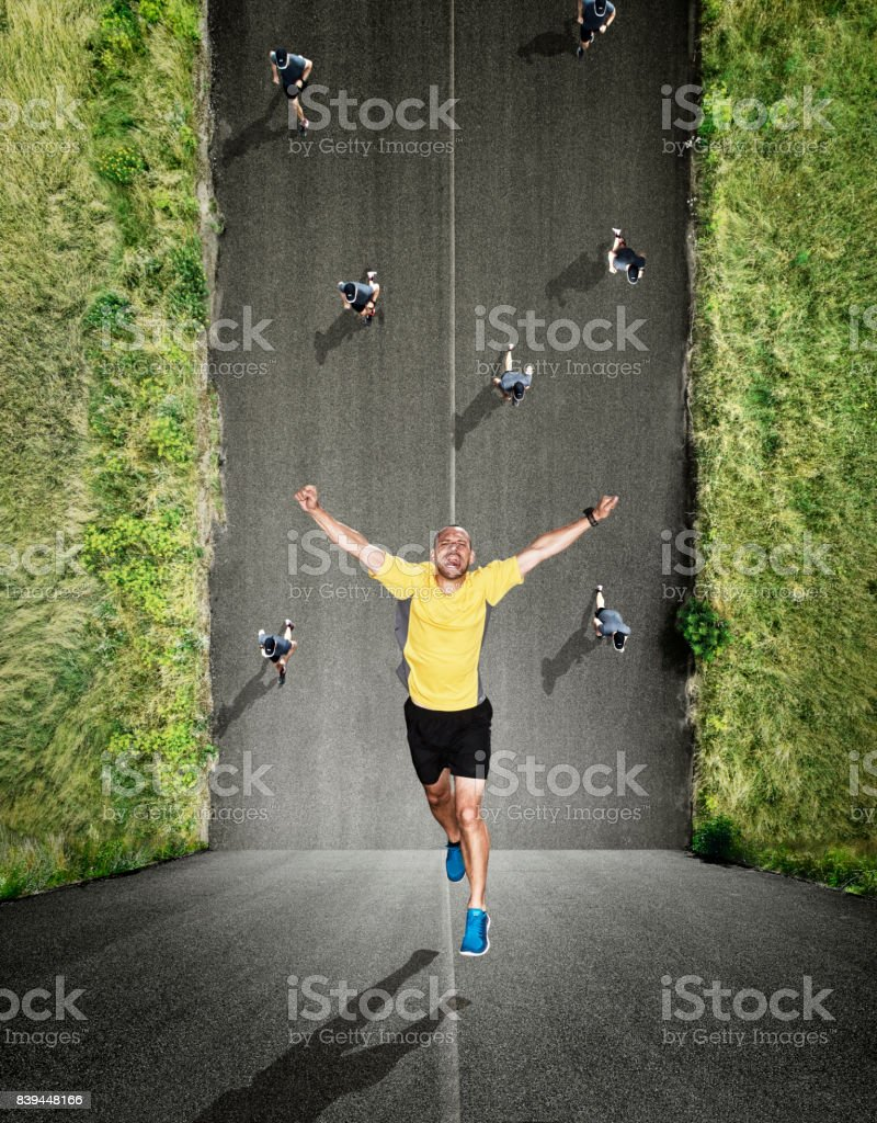 Run from yourself stock photo