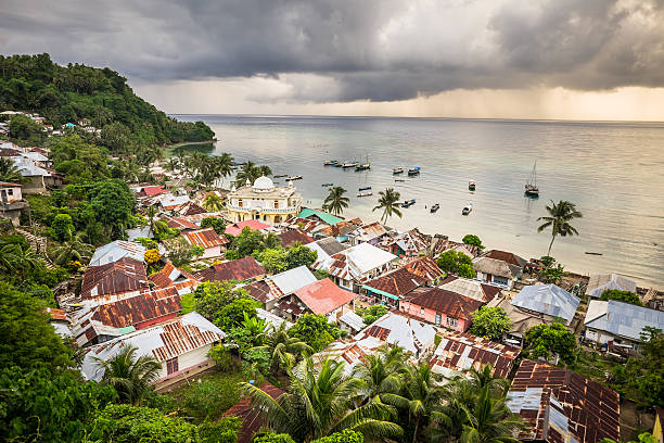Run Island, Banda Islands, Maluku, Indonesia stock photo