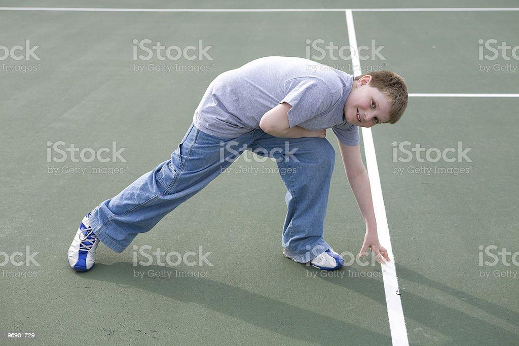 Run Outdoor Line Drills royalty-free stock photo