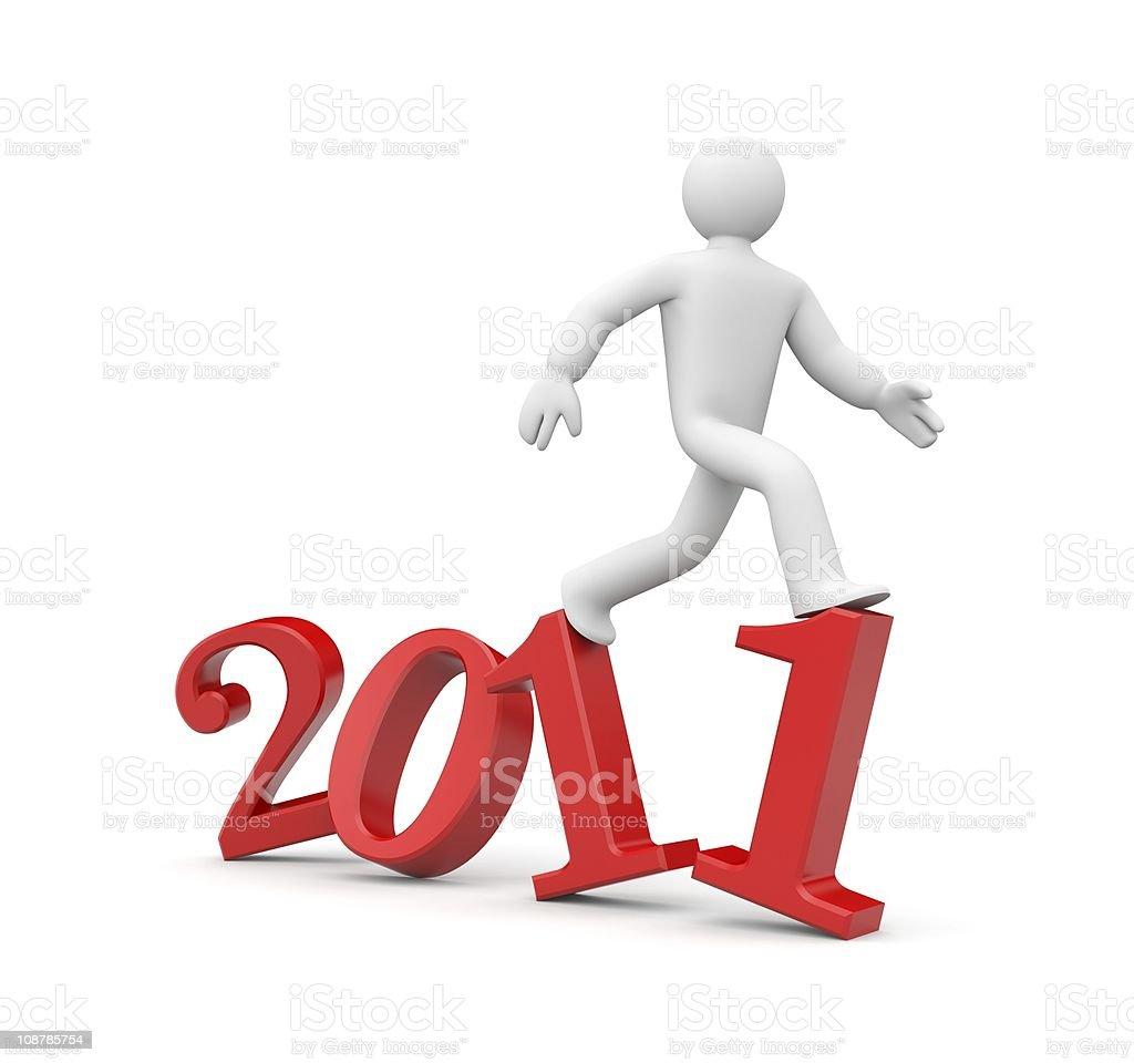 Run to new year royalty-free stock photo