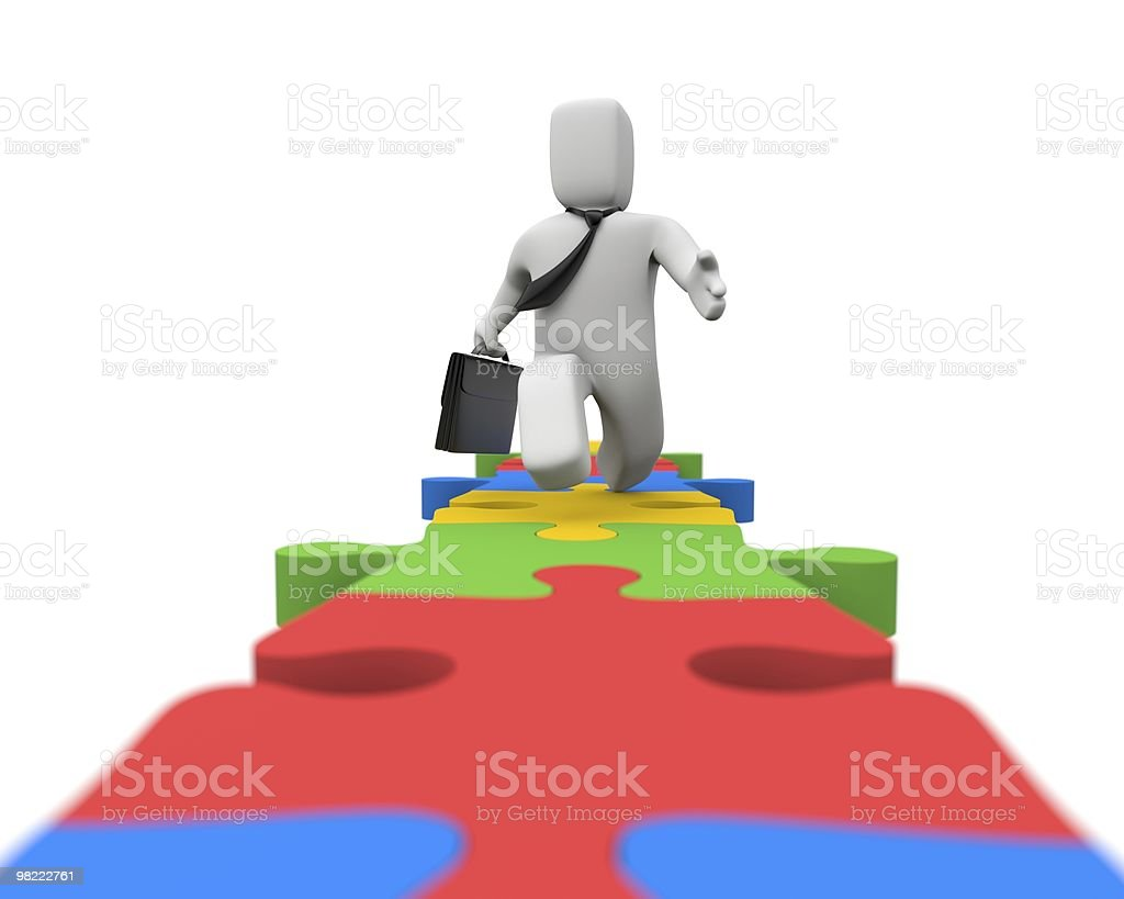 Run to Success royalty-free stock photo