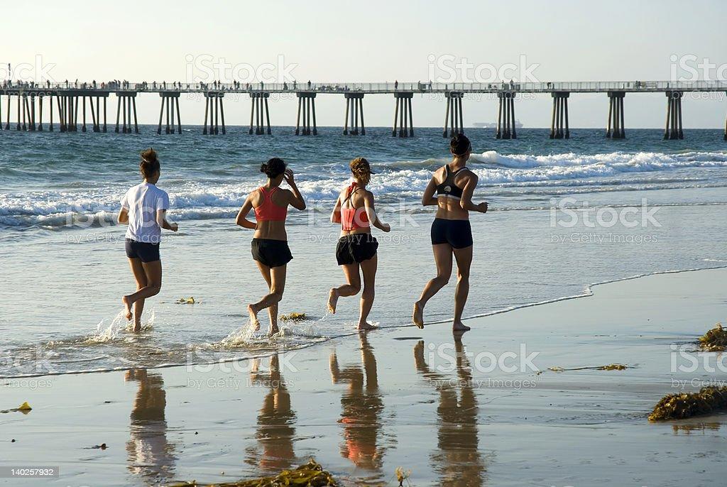 run to the pier royalty-free stock photo