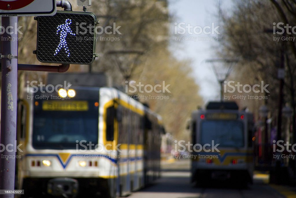 Run When You See a Train Coming royalty-free stock photo