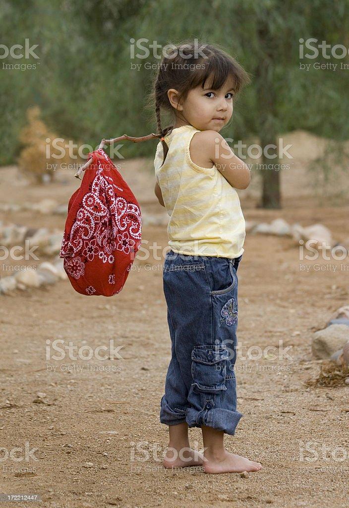 Runaway Girl stock photo