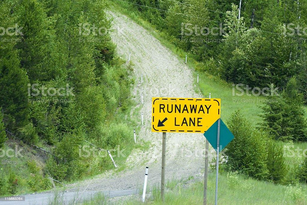 runaway lane uphill stock photo