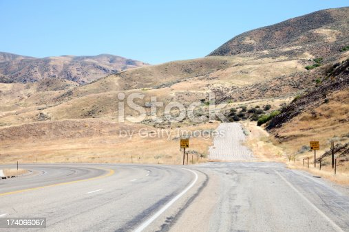 Escape ramps like this are common in mountainous areas. This is in Idaho.