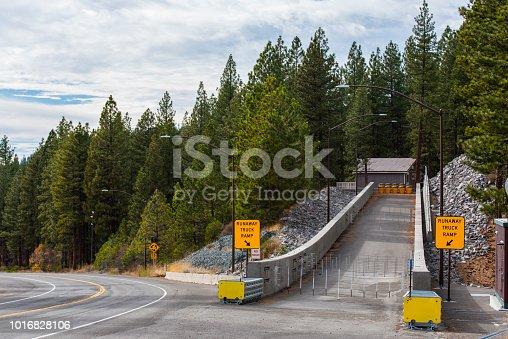 Runaway truck ramp made of concrete