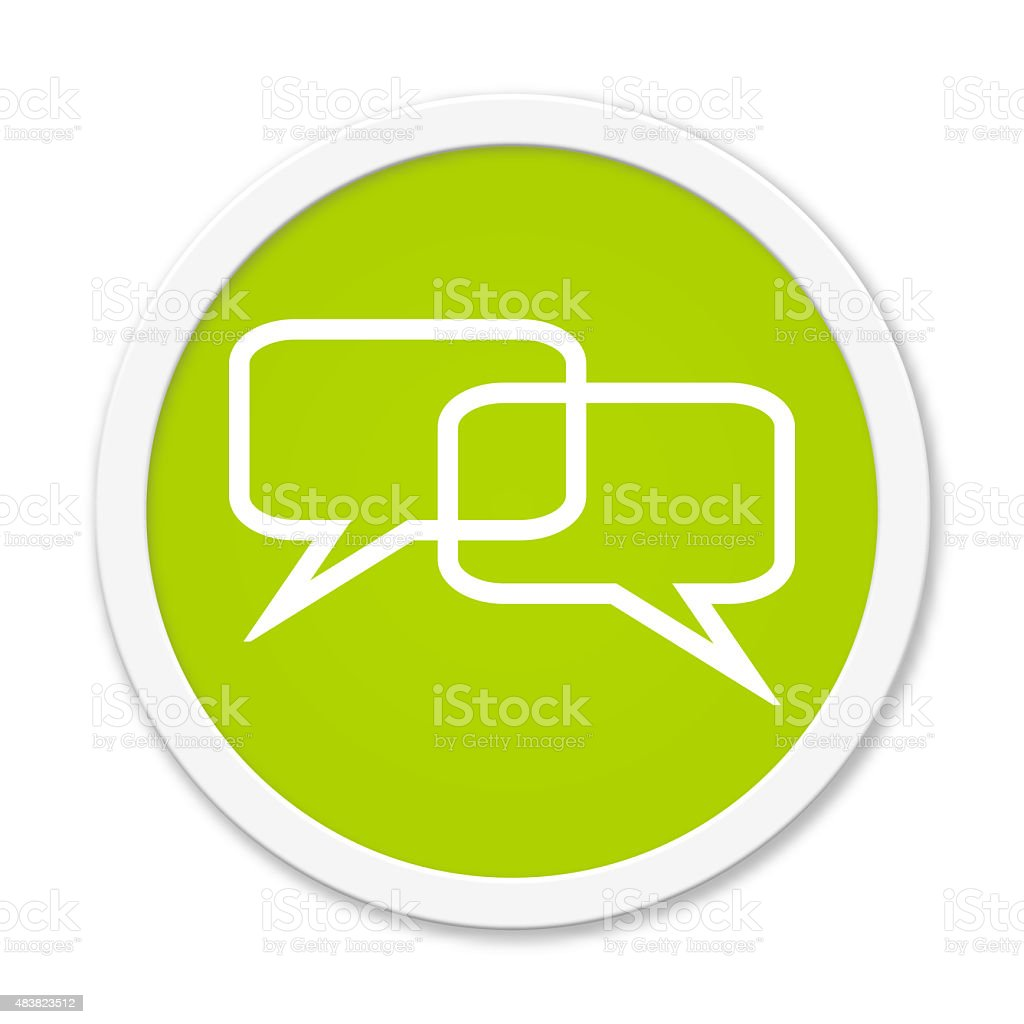 Rund Button showing balloons stock photo
