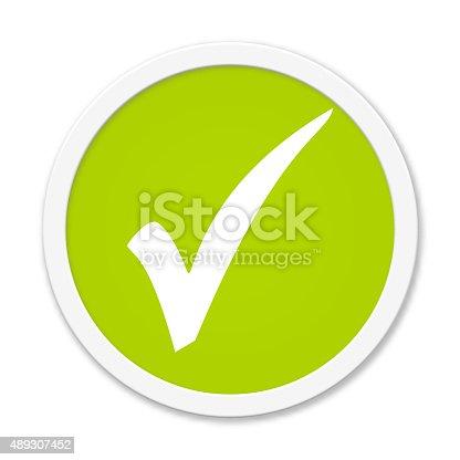 istock Rund Button showing hook 489307452