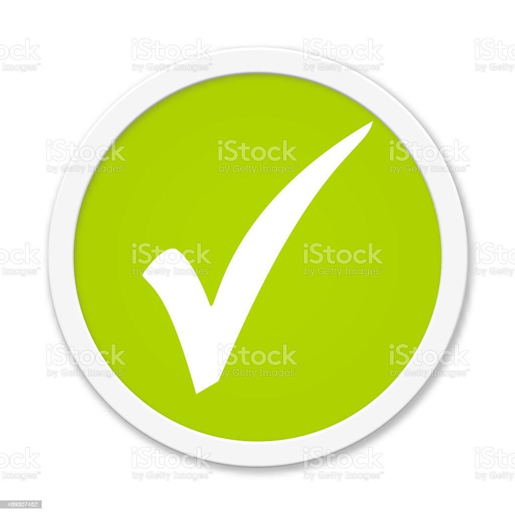 Rund Button showing hook stock photo