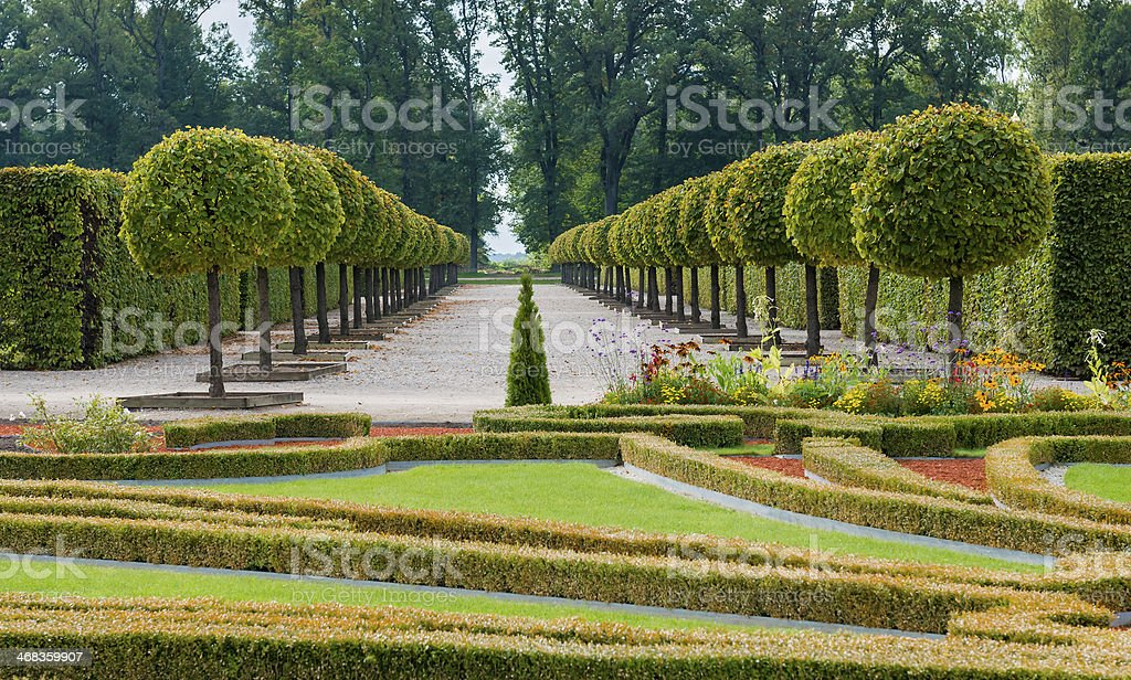 Rundale governmental florist park, Latvia, Europe royalty-free stock photo