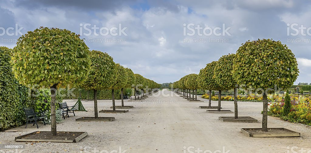 Rundale governmental florist park, Latvia, Europe royalty-free stock photo