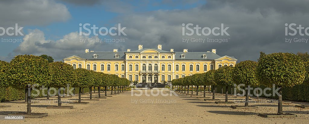 Rundale governmental palace, Latvia, Europe royalty-free stock photo