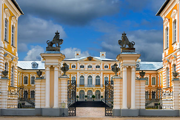 Rundale palace, Latvia, Europe stock photo