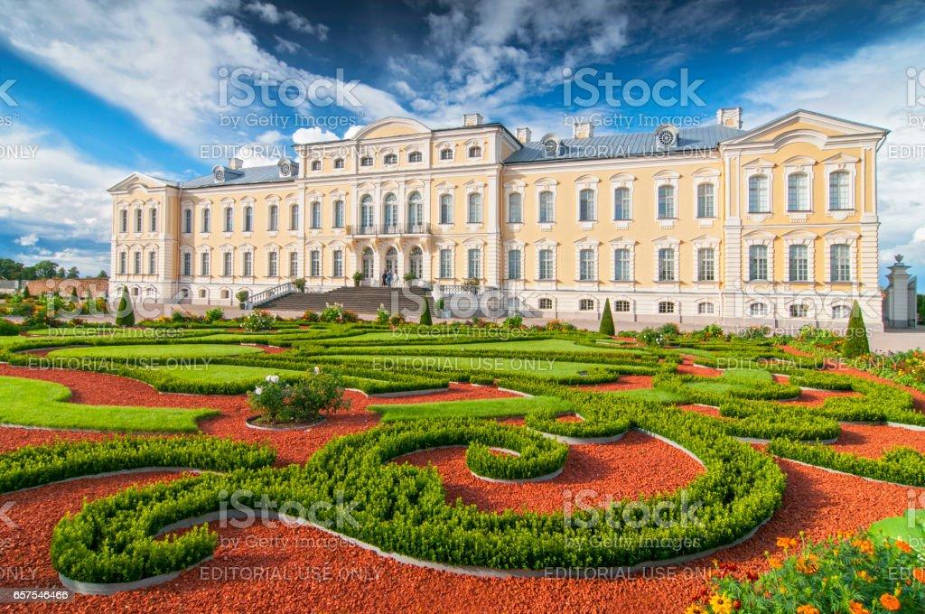 Rundale palace, Latvia. stock photo