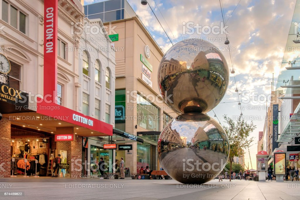 Rundle Mall Balls, Adelaide city stock photo