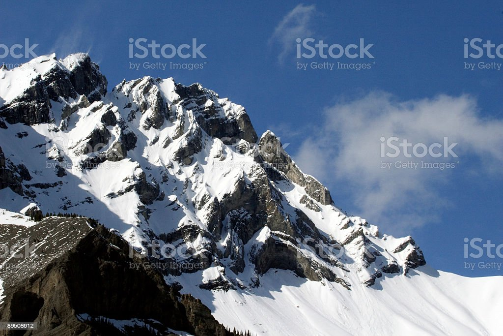 Rundle Mountain Banff National Park stock photo