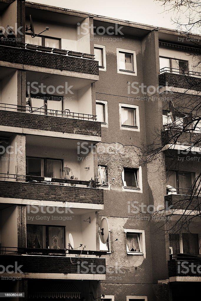 Rundown facade of a building royalty-free stock photo