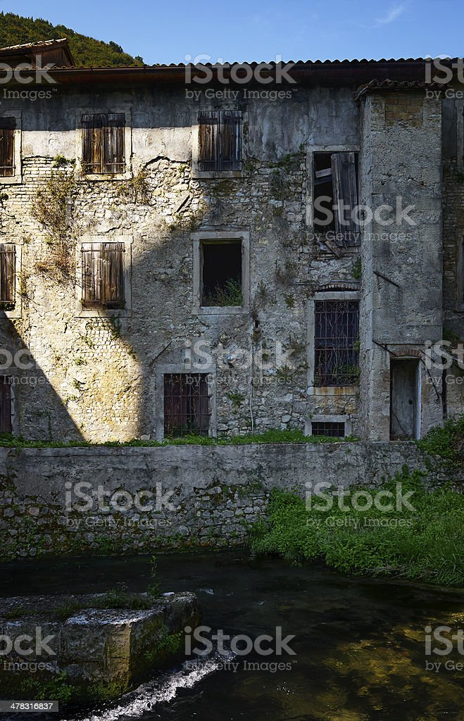 Rundown Home. Color Image royalty-free stock photo