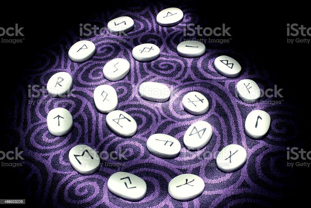 Rune Spiral stock photo