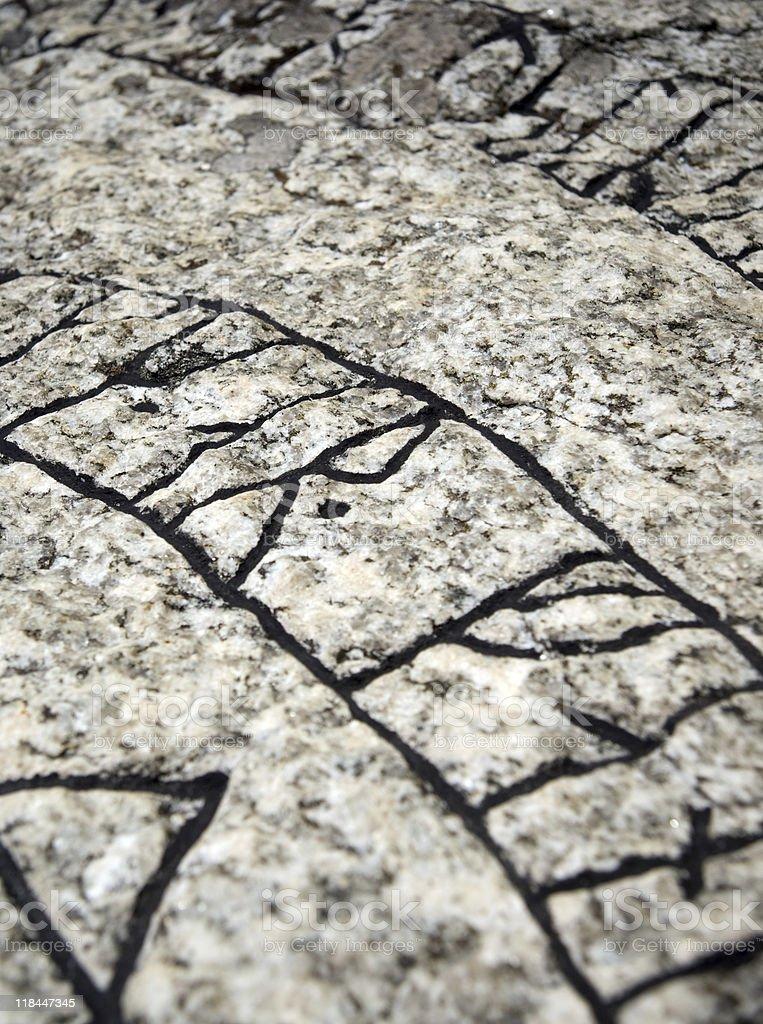 Rune stone royalty-free stock photo