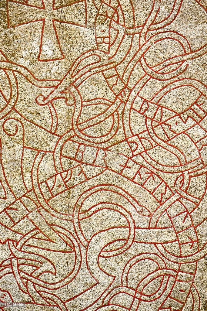 Runes. Background stock photo