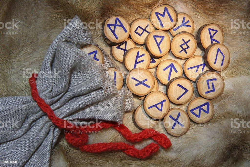 Runes close-up stock photo