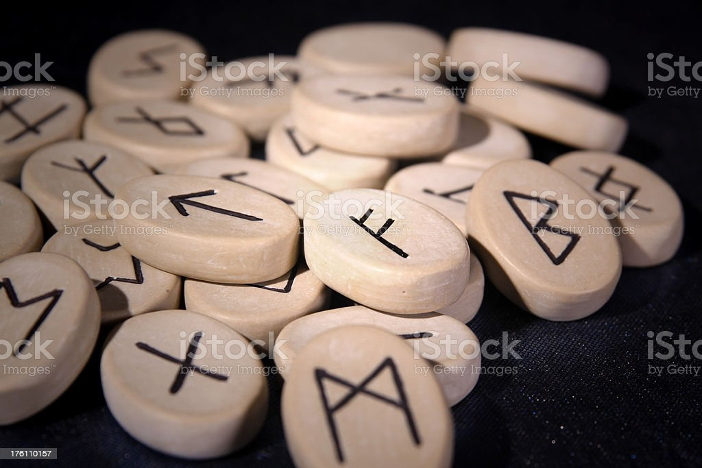 Runes - mystic norse signs royalty-free stock photo
