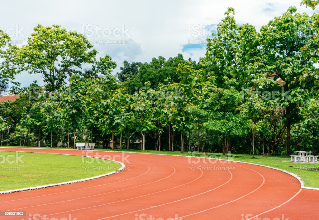 Runing Track stock photo