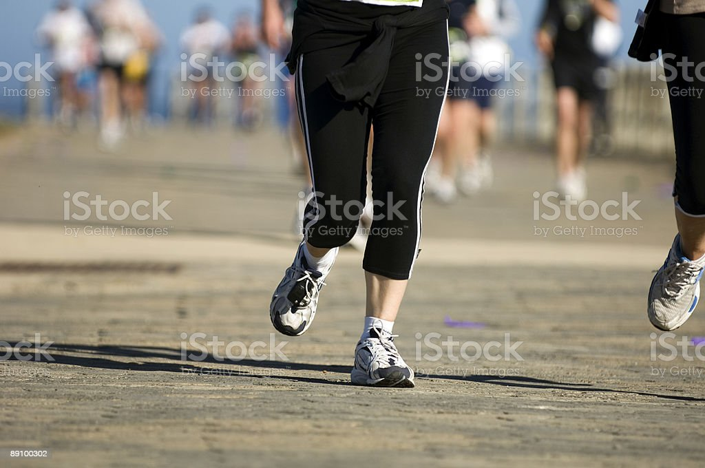 Runner ahead of the pack stock photo