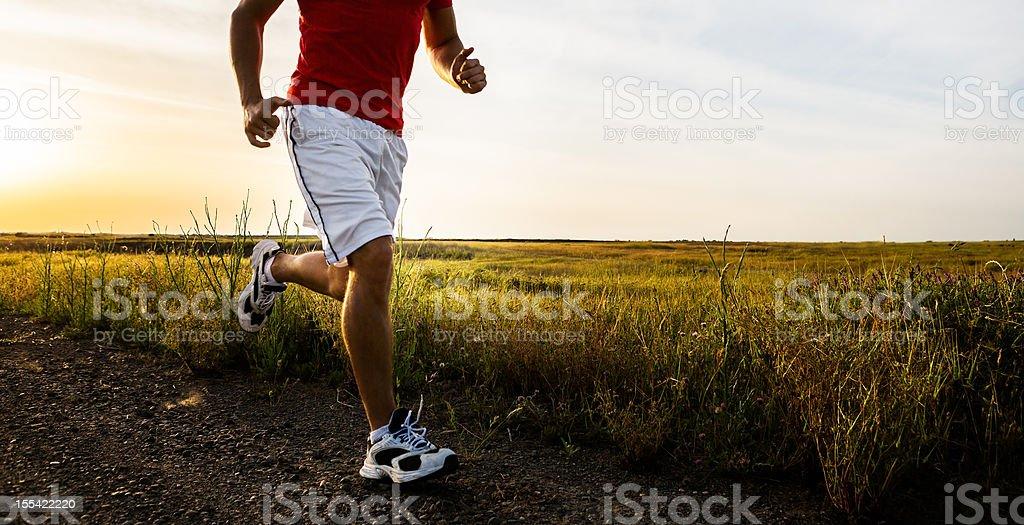Runner at Sunrise royalty-free stock photo