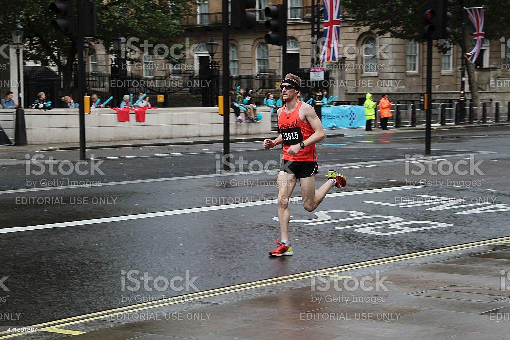 Runner at the 2012 London 10k Marathon royalty-free stock photo