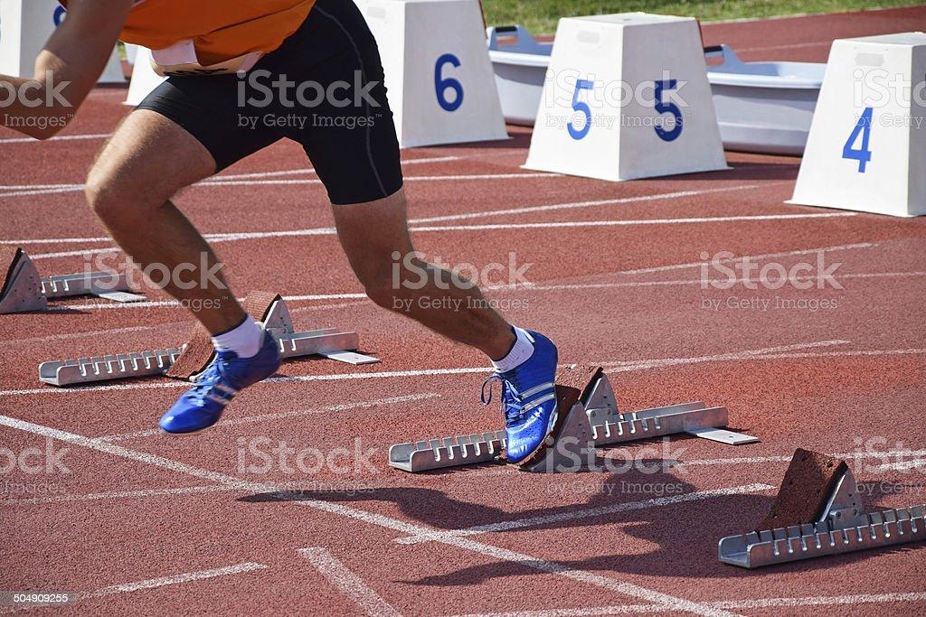 Runner athlete stock photo