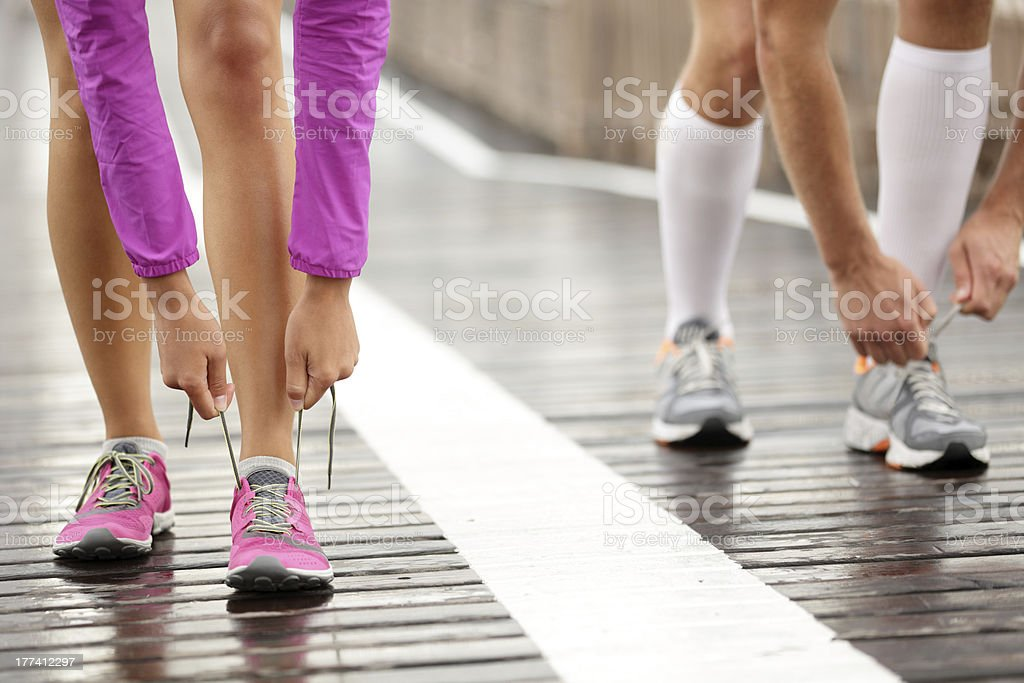Runner feet stock photo