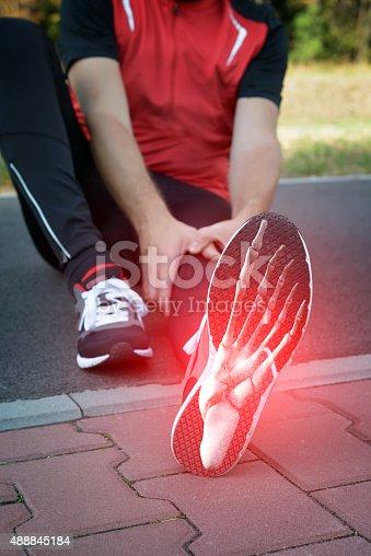 istock Runner foot 488845184