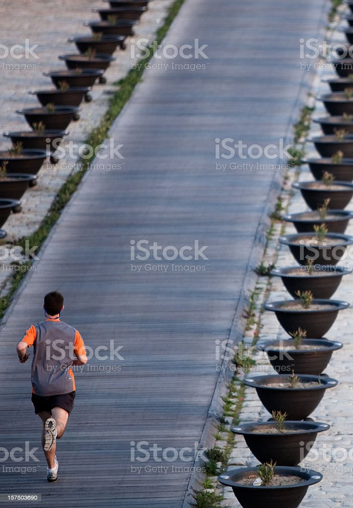 Runner from above royalty-free stock photo