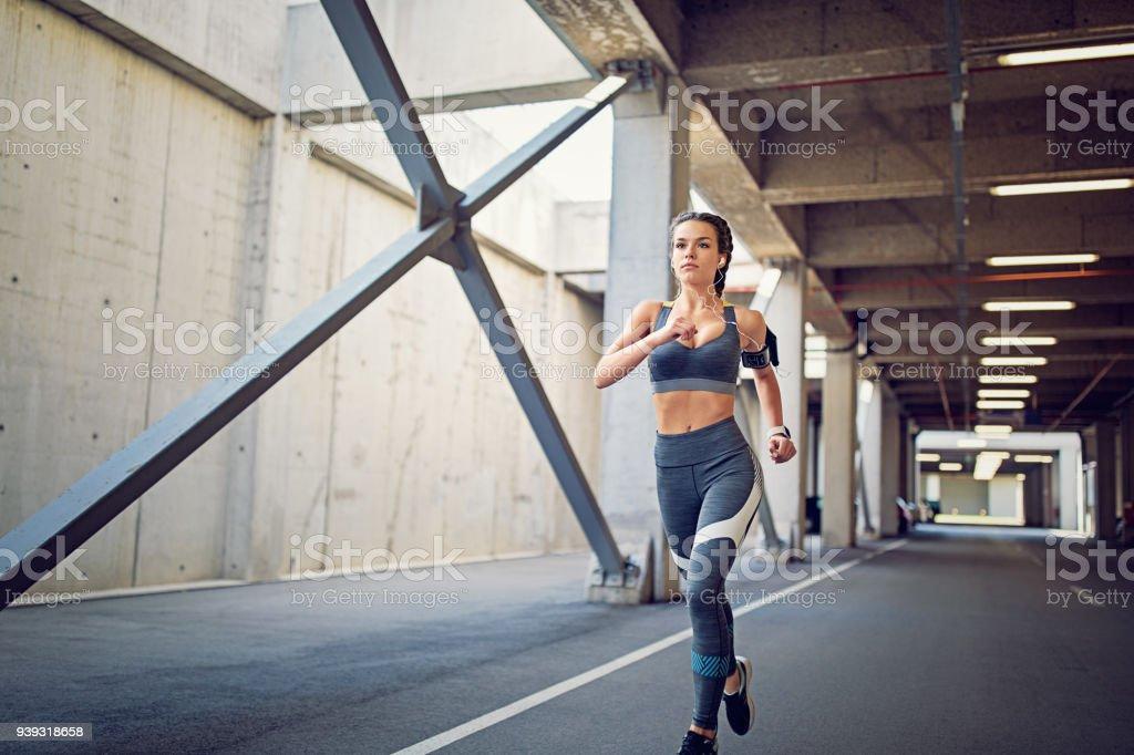 Runner girl stock photo