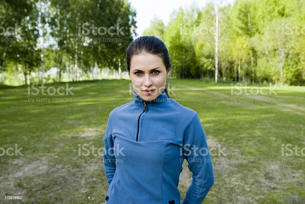 Runner having a rest royalty-free stock photo