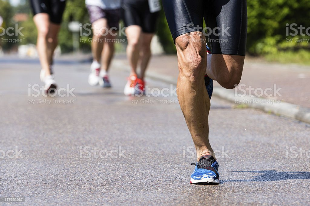 runner in a competition stock photo