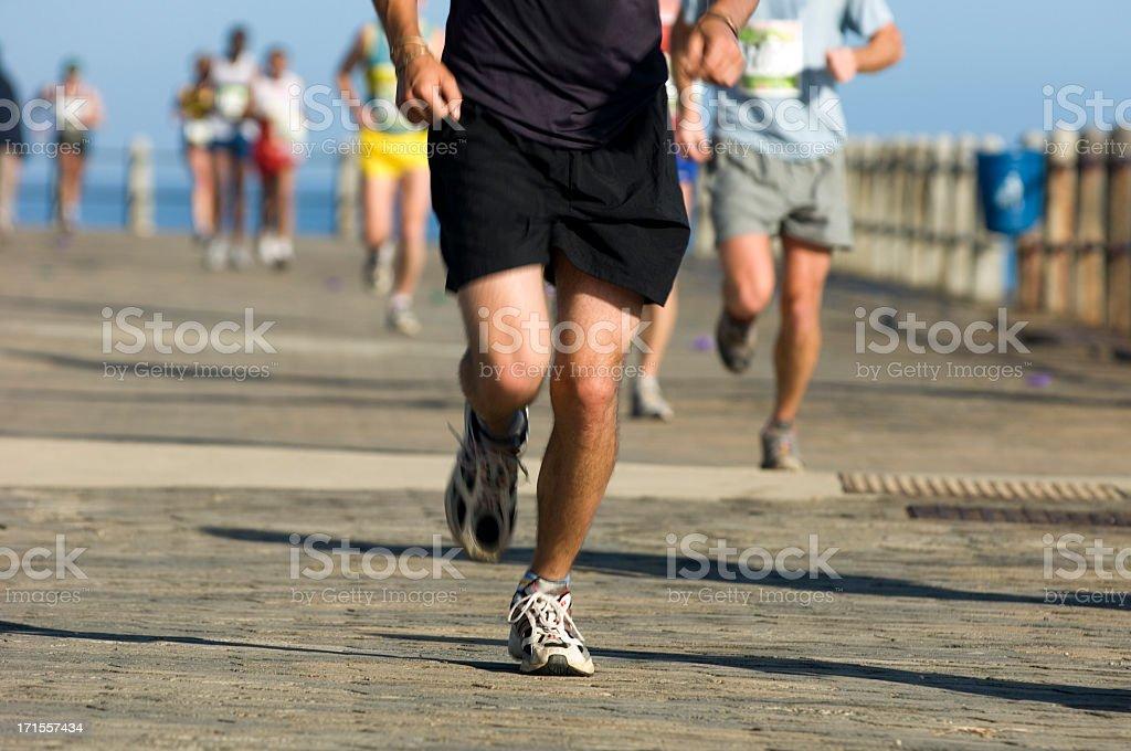Runner in Black stock photo