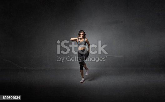 629605142istockphoto runner motion in studio 629604934