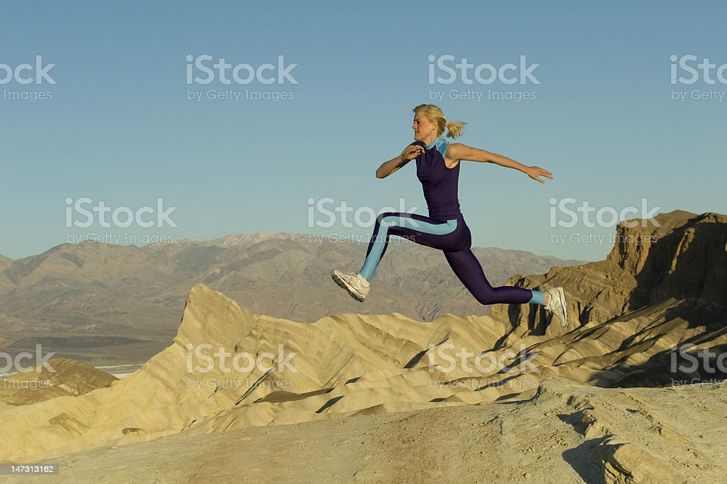 Runner on Mountains royalty-free stock photo
