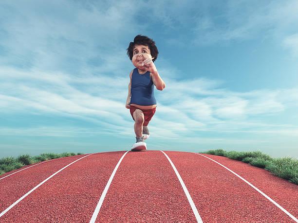 runner on the track. - pool schritte stock-fotos und bilder