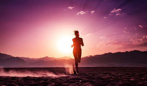 runner - magenta stock photos and pictures
