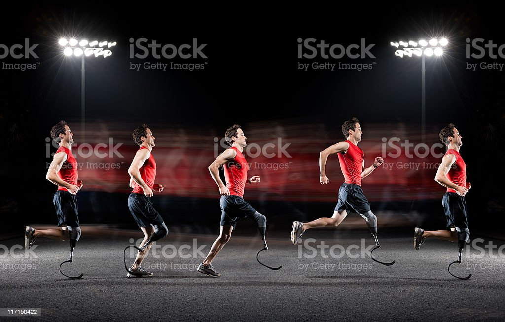 Runner Sequence royalty-free stock photo