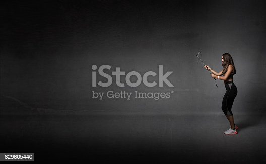 629605142istockphoto runner take selfie with phone 629605440