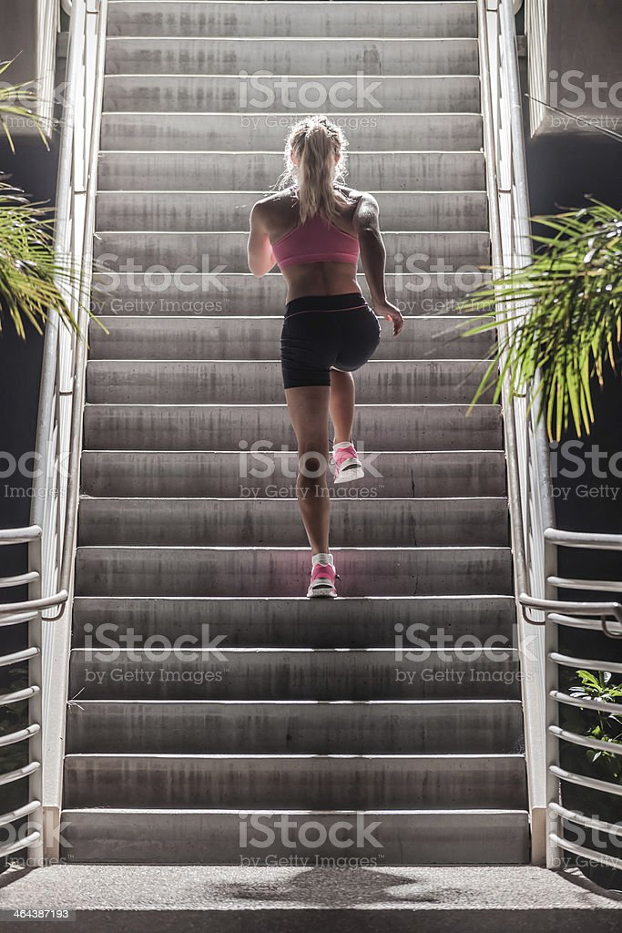 Runner Training on Stairs royalty-free stock photo