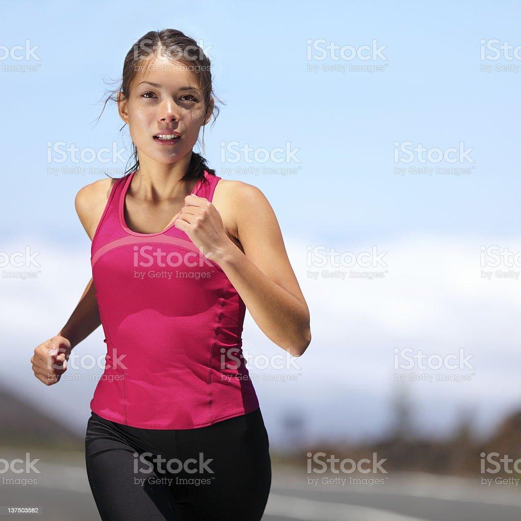 runner - woman running stock photo