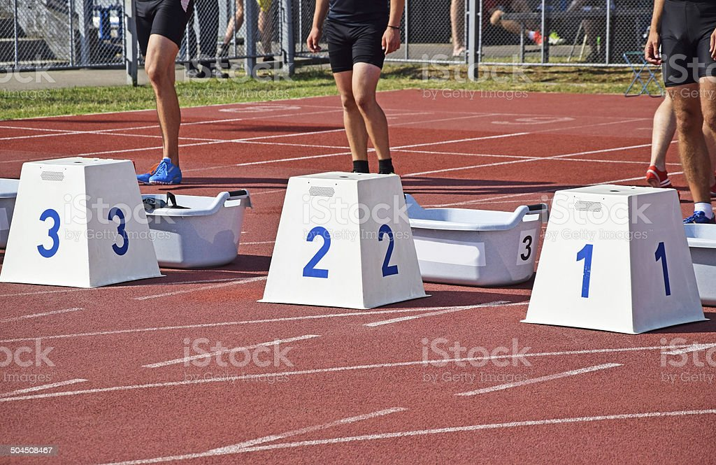 Runners at the starting line royalty-free stock photo