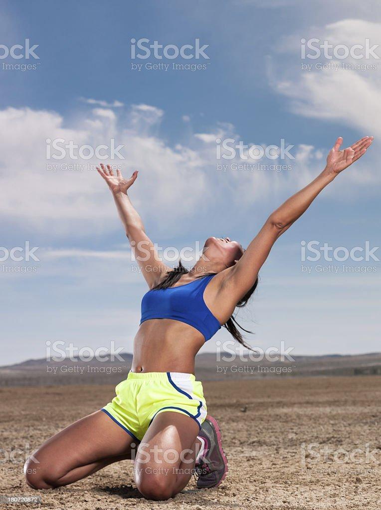 Runners Celebration royalty-free stock photo